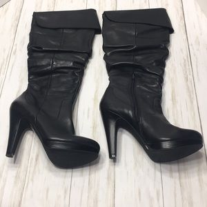 Size 8 Jessica Simpson Black Anne Leather Boots